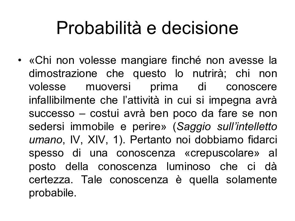 Probabilità e decisione
