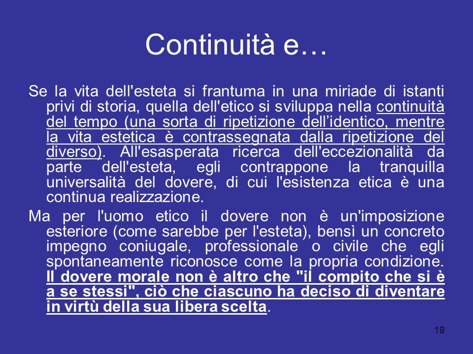 Continuità e…
