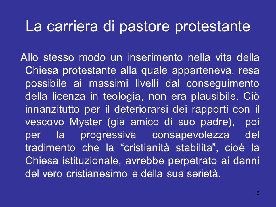 La carriera di pastore protestante