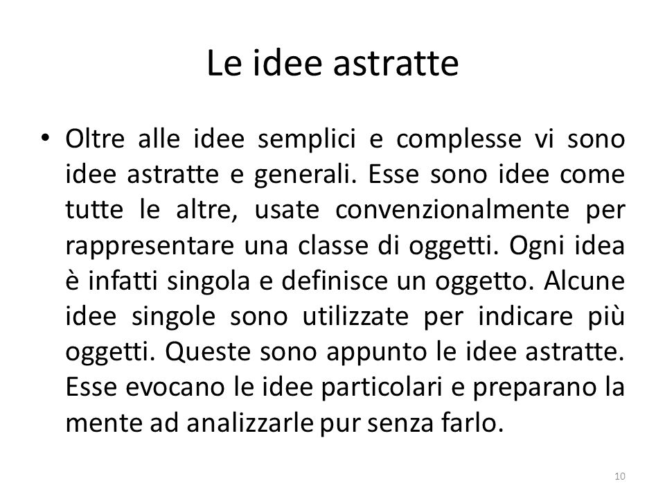 Le idee astratte