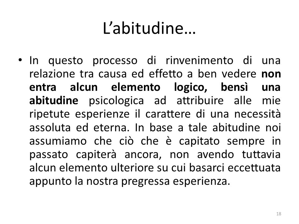 L'abitudine…