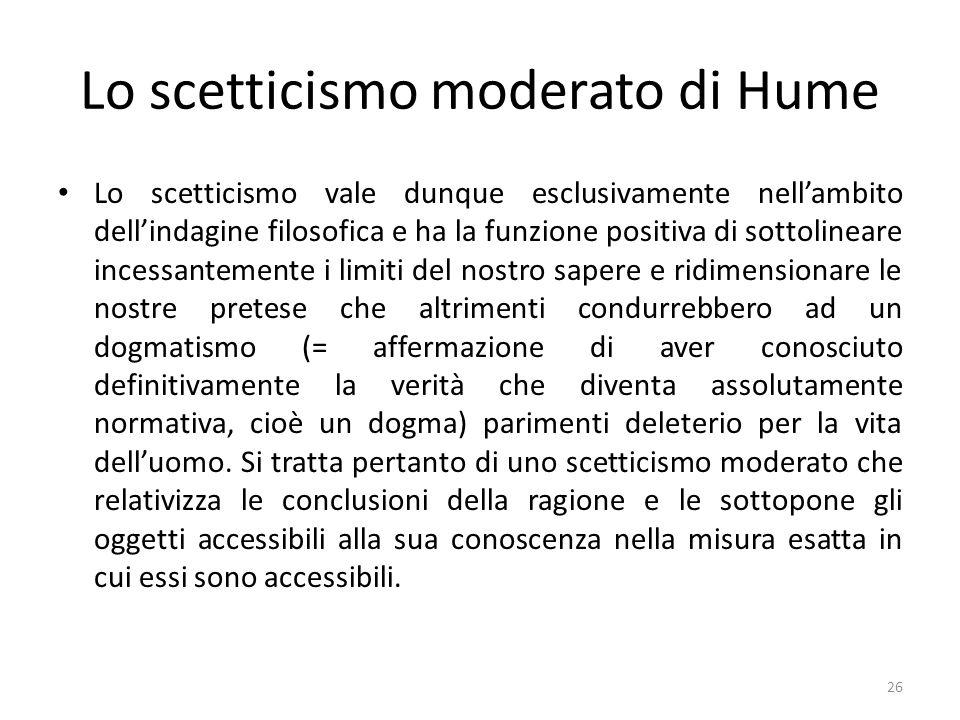 Lo scetticismo moderato di Hume