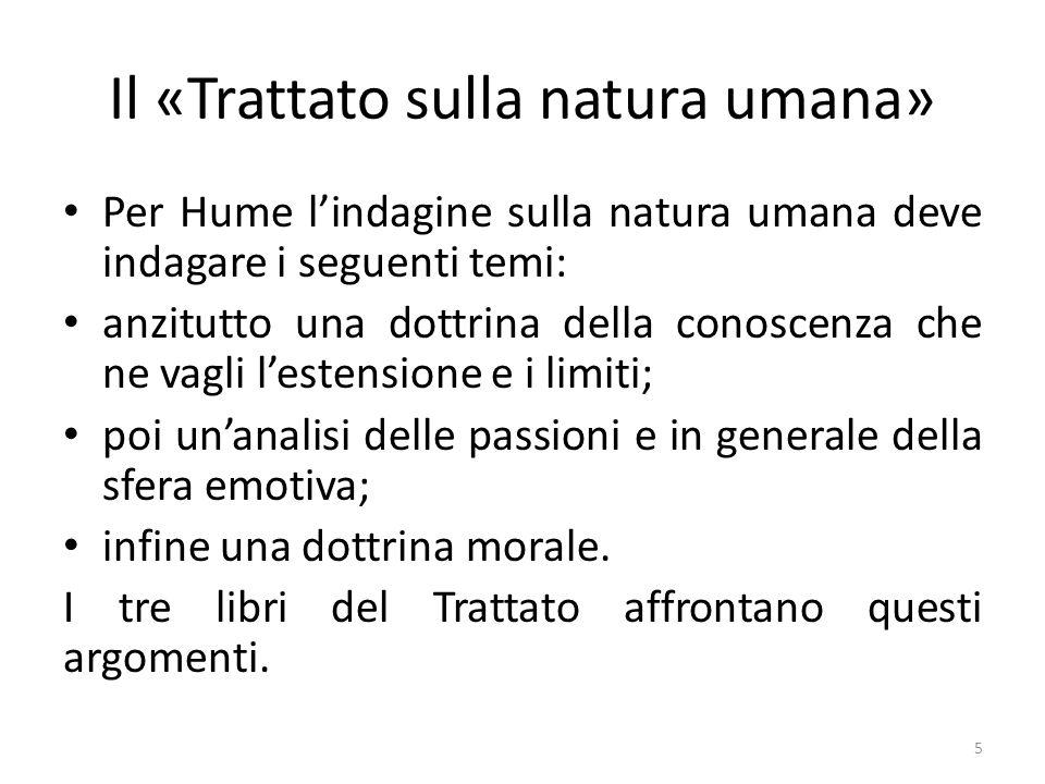 Il «Trattato sulla natura umana»
