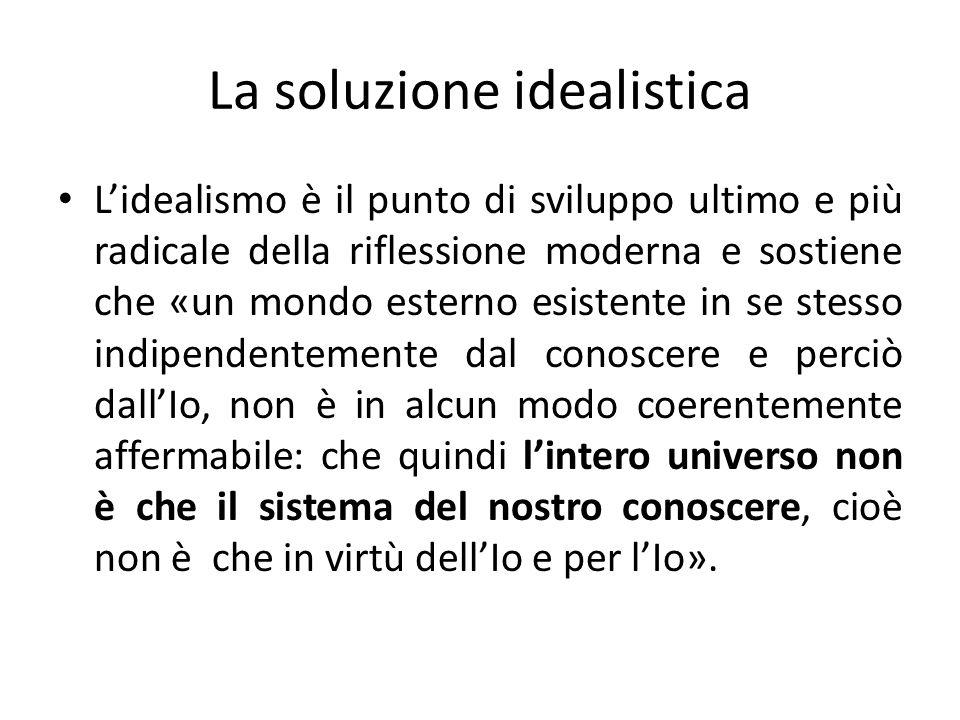 La soluzione idealistica