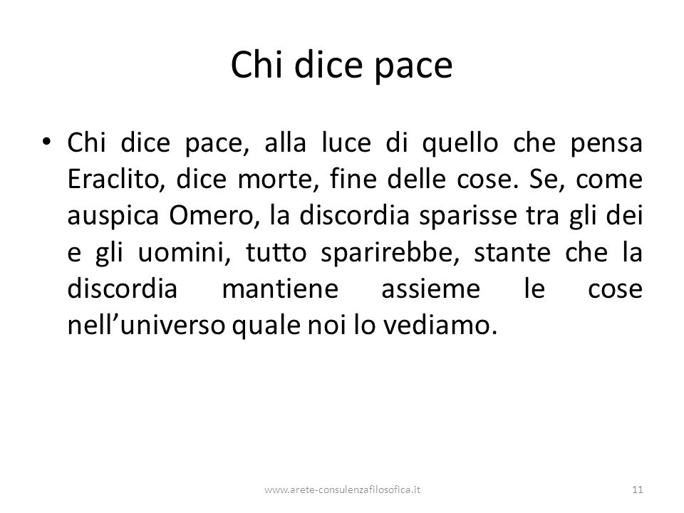 Chi dice pace