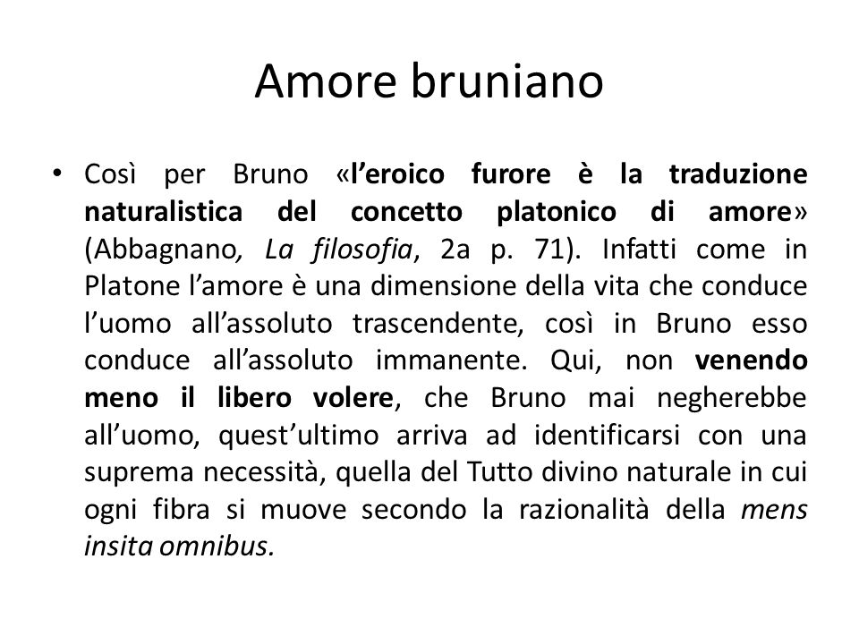 Amore bruniano