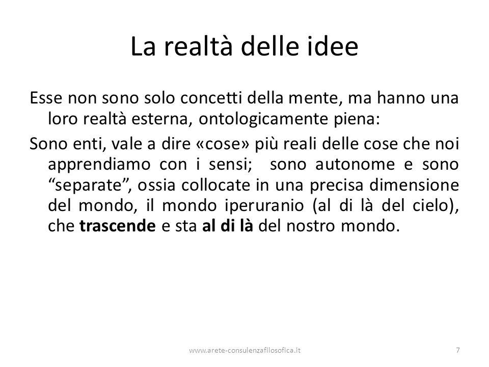 La realtà delle idee