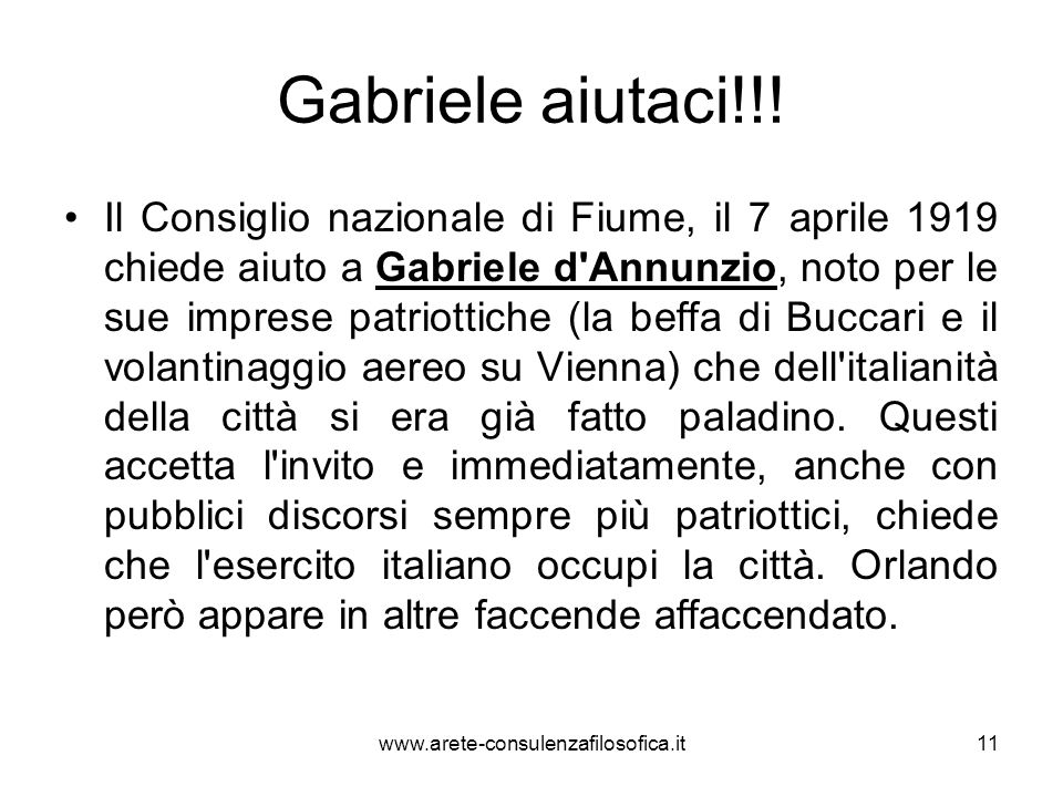 Gabriele aiutaci!!!