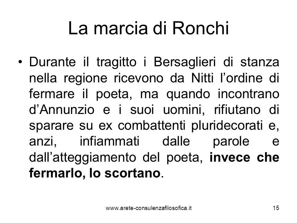 La marcia di Ronchi