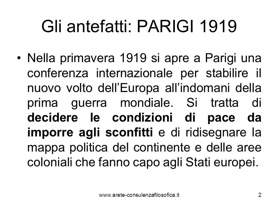 Gli antefatti: PARIGI 1919