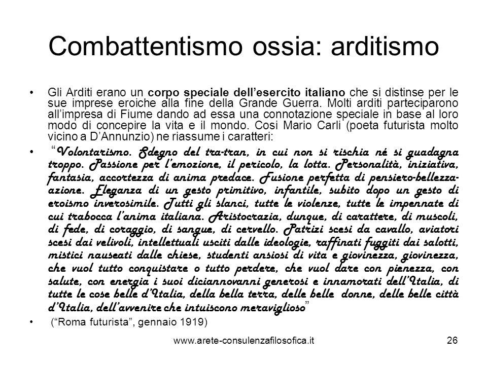Combattentismo ossia: arditismo