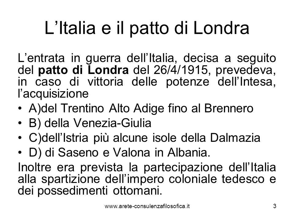 L'Italia e il patto di Londra
