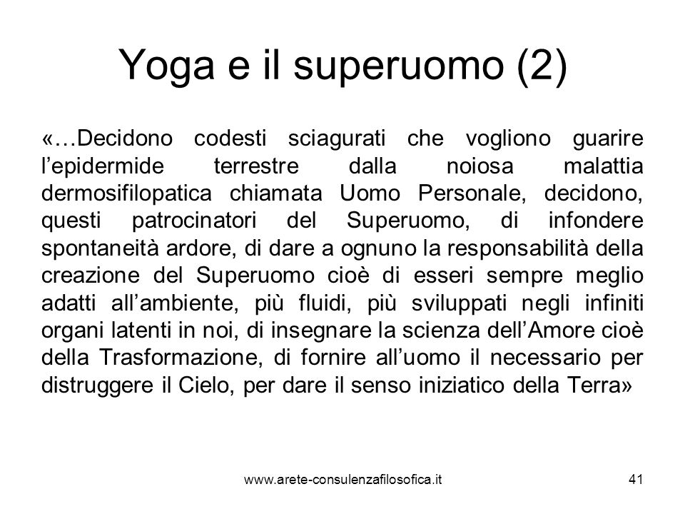Yoga e il superuomo (2)