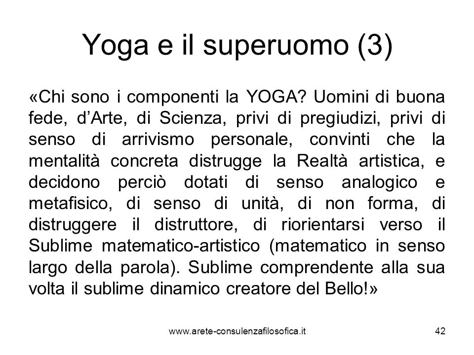 Yoga e il superuomo (3)
