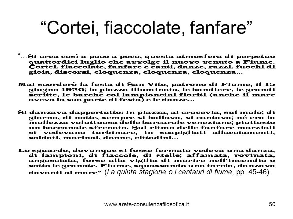 Cortei, fiaccolate, fanfare