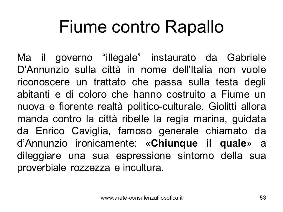 Fiume contro Rapallo