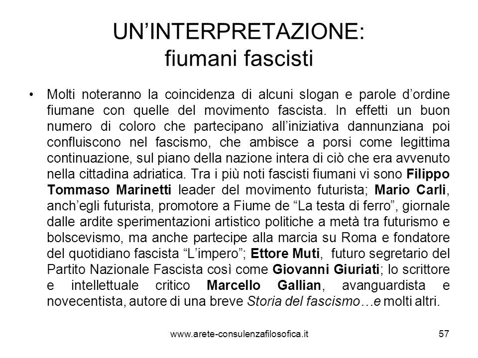 UN'INTERPRETAZIONE: fiumani fascisti