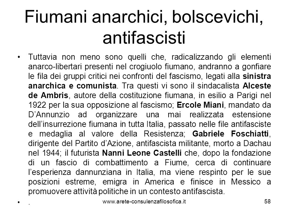 Fiumani anarchici, bolscevichi, antifascisti