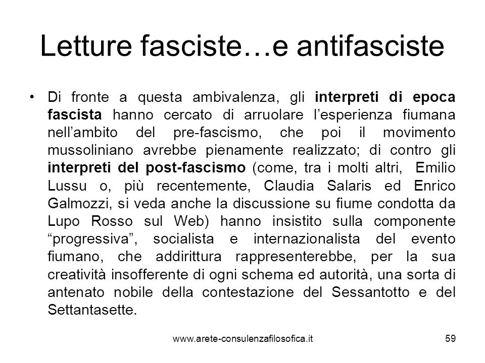 Letture fasciste…e antifasciste