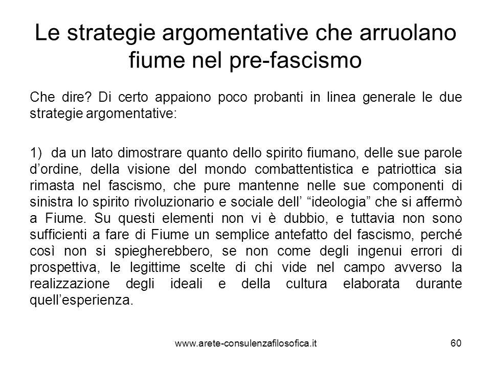 Le strategie argomentative che arruolano fiume nel pre-fascismo