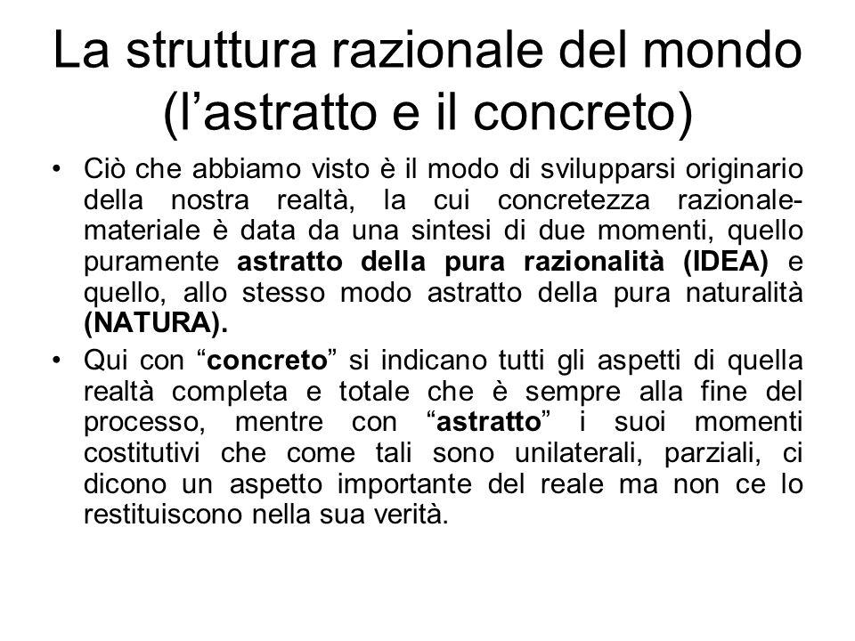 La struttura razionale del mondo (l'astratto e il concreto)