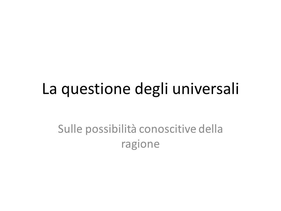 La questione degli universali