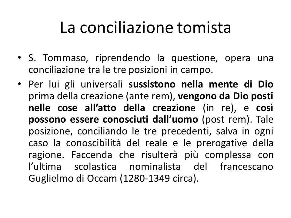 La conciliazione tomista