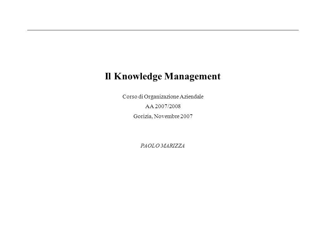 Il Knowledge Management