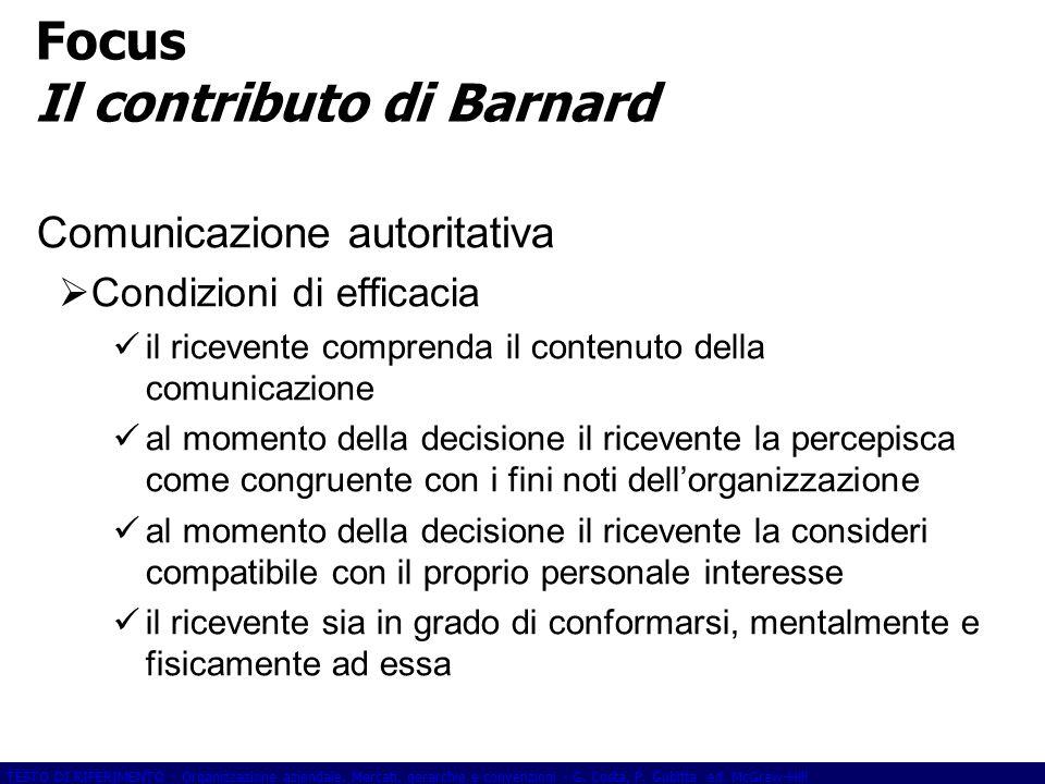 Focus Il contributo di Barnard