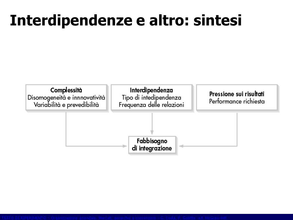 Interdipendenze e altro: sintesi