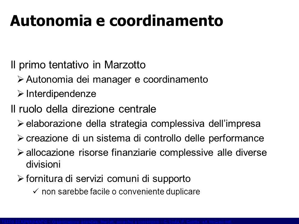 Autonomia e coordinamento
