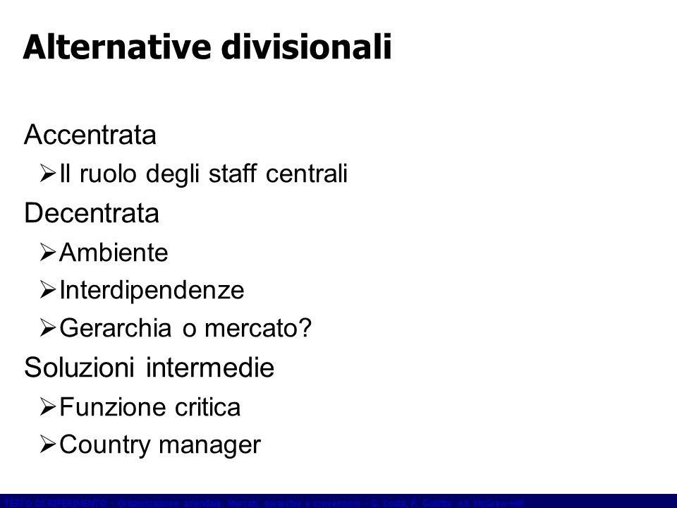 Alternative divisionali