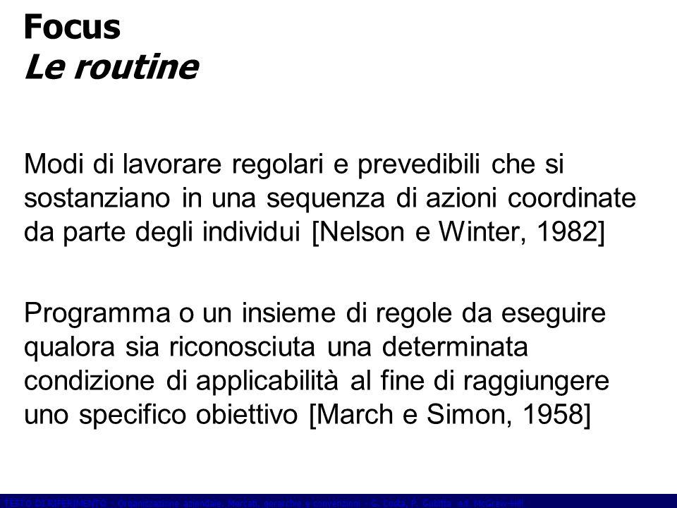 Focus Le routine