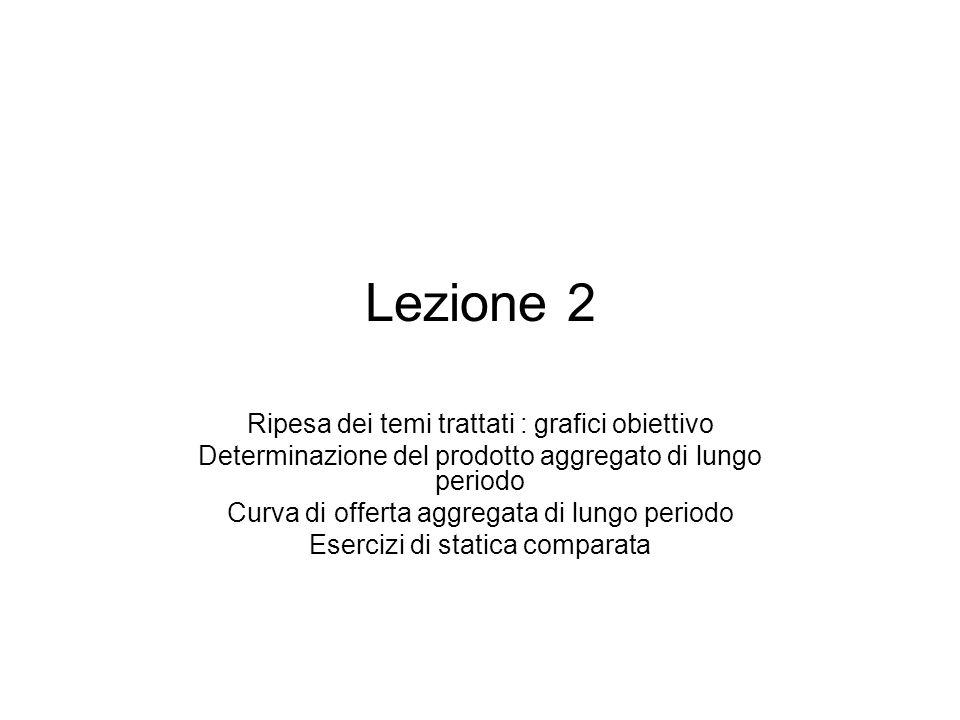 Lezione 2 Ripesa dei temi trattati : grafici obiettivo