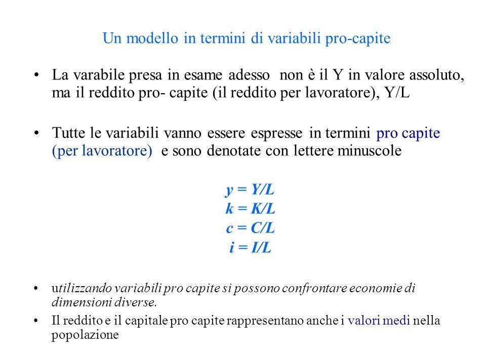 Un modello in termini di variabili pro-capite