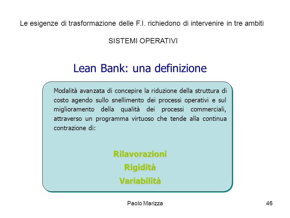 Lean Bank: una definizione