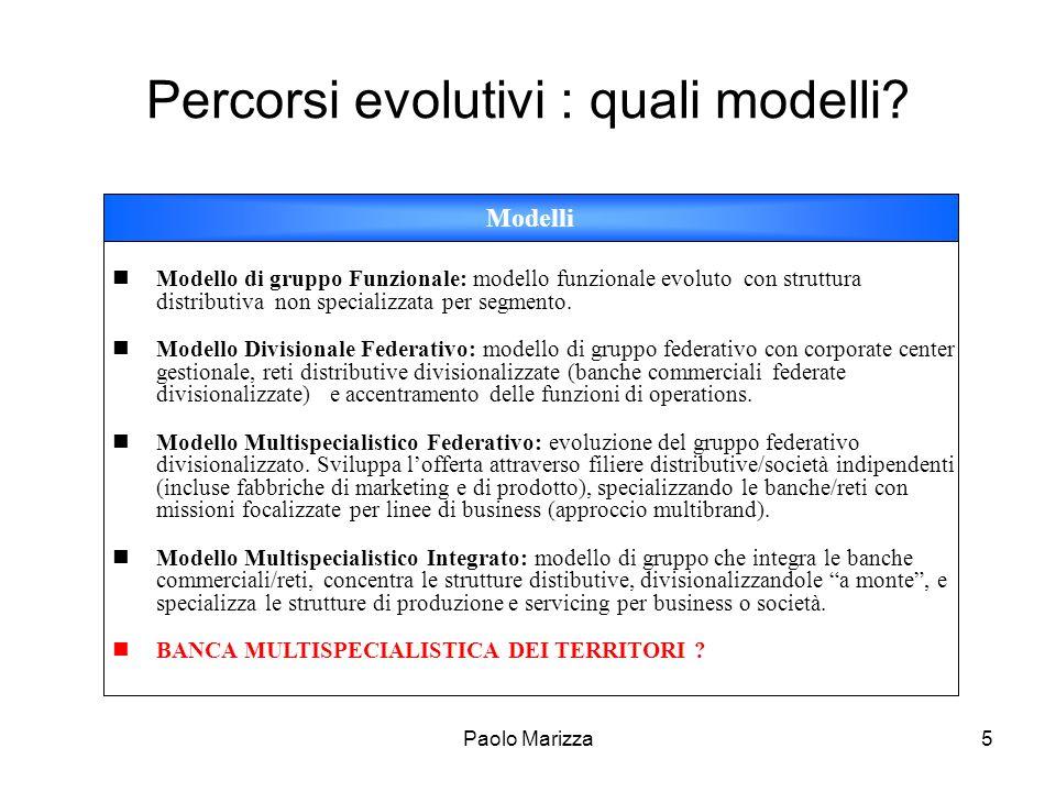 Percorsi evolutivi : quali modelli