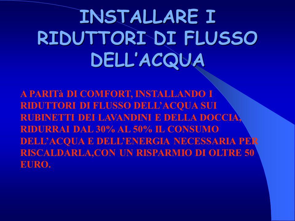 INSTALLARE I RIDUTTORI DI FLUSSO DELL'ACQUA