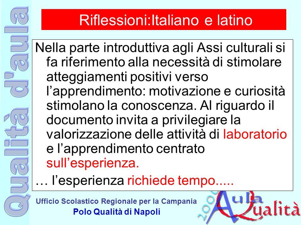 Riflessioni:Italiano e latino