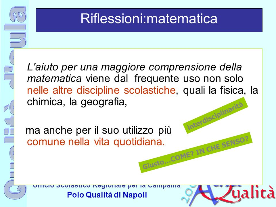 Riflessioni:matematica