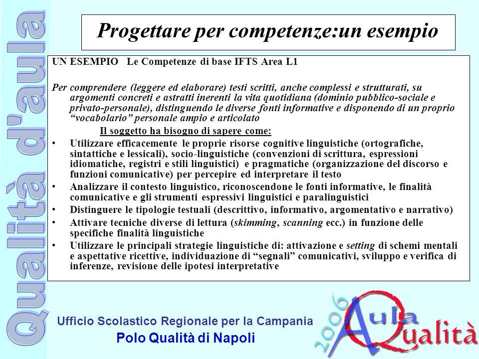 Progettare per competenze:un esempio
