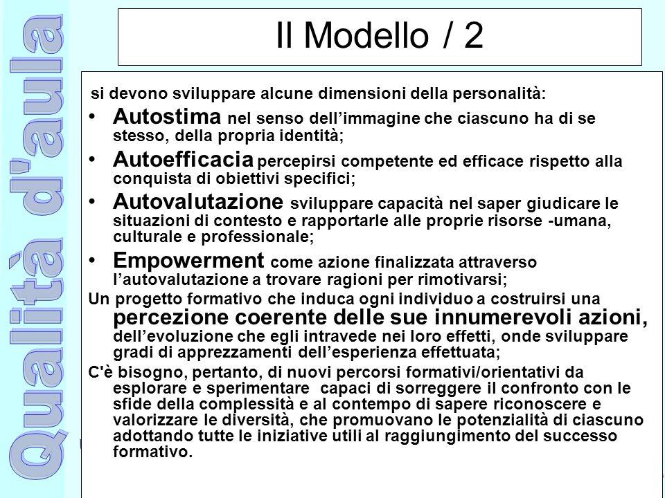 Il Modello / 2 si devono sviluppare alcune dimensioni della personalità: