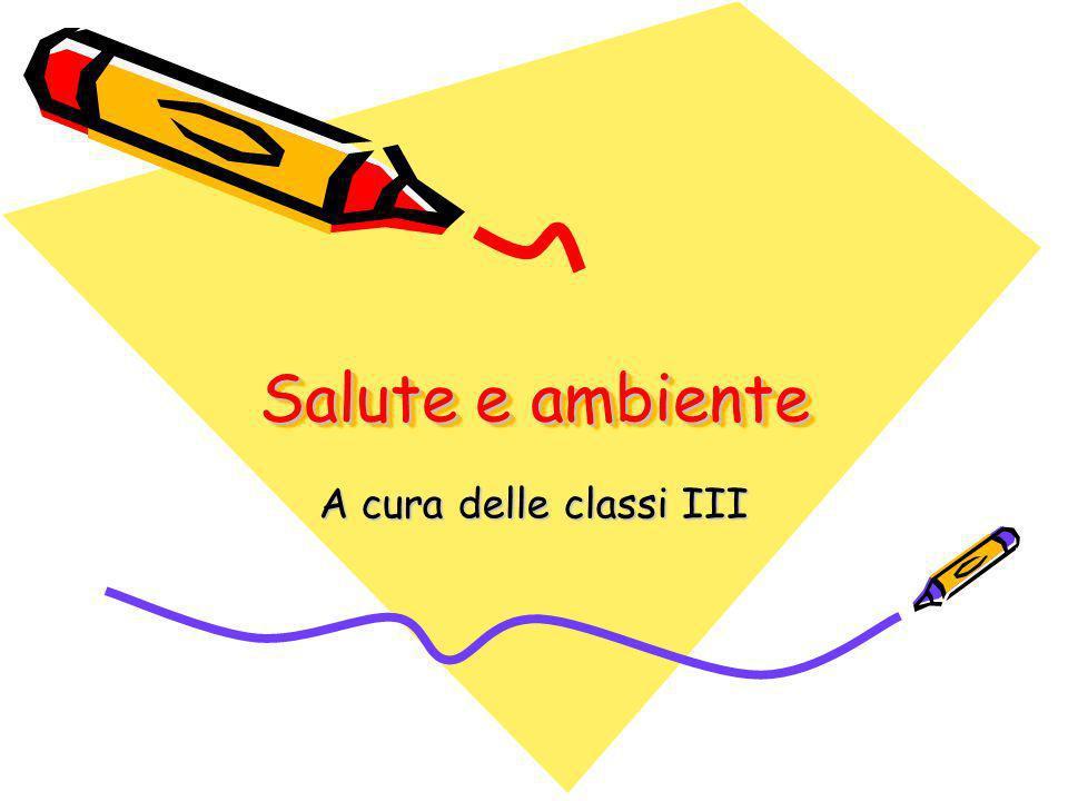 Salute e ambiente A cura delle classi III