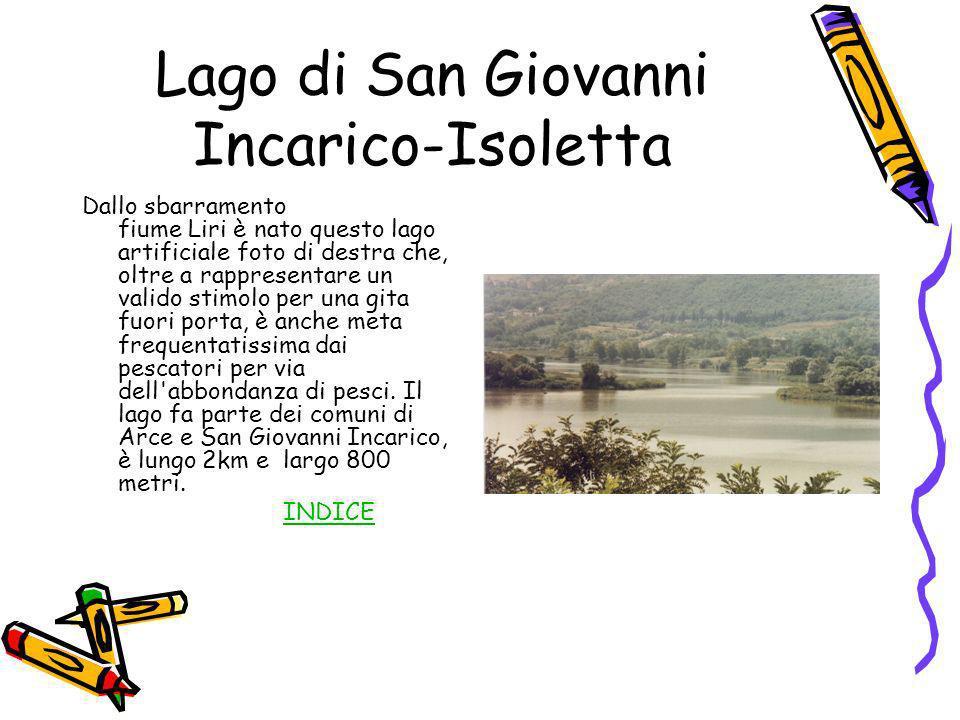 Lago di San Giovanni Incarico-Isoletta