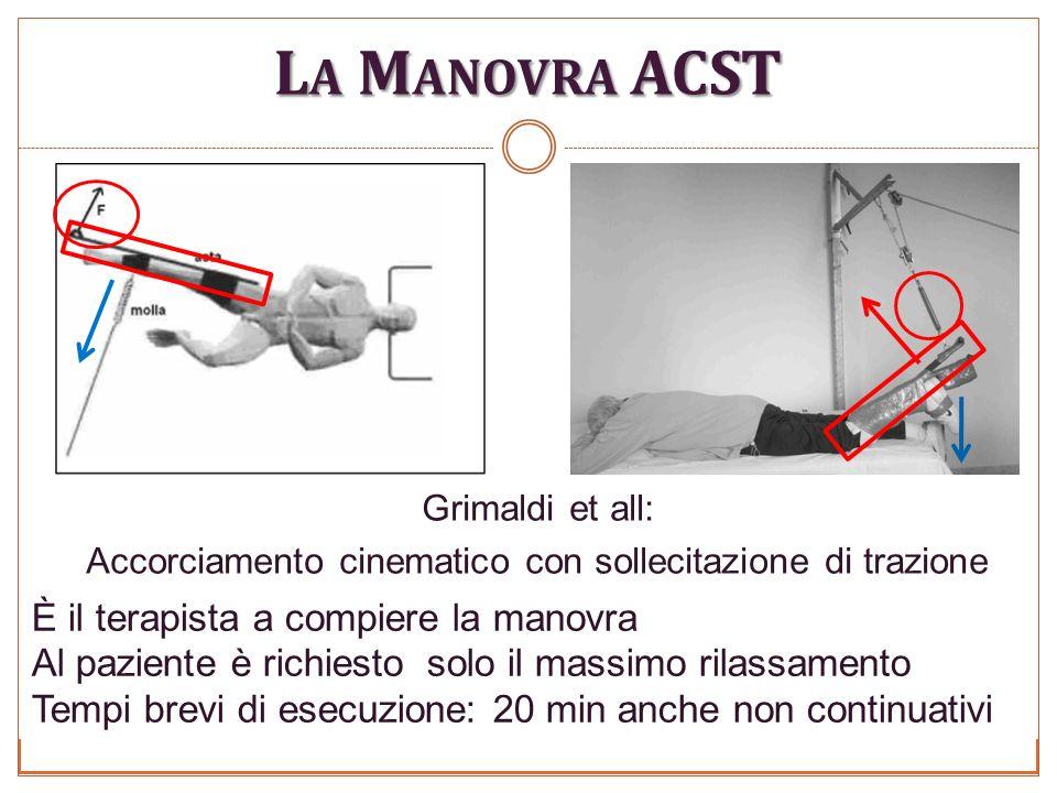 La Manovra ACST È il terapista a compiere la manovra