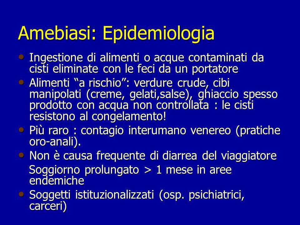 Amebiasi: Epidemiologia