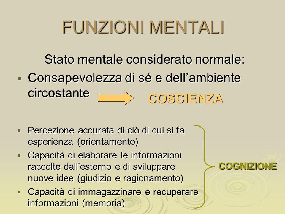 Stato mentale considerato normale: