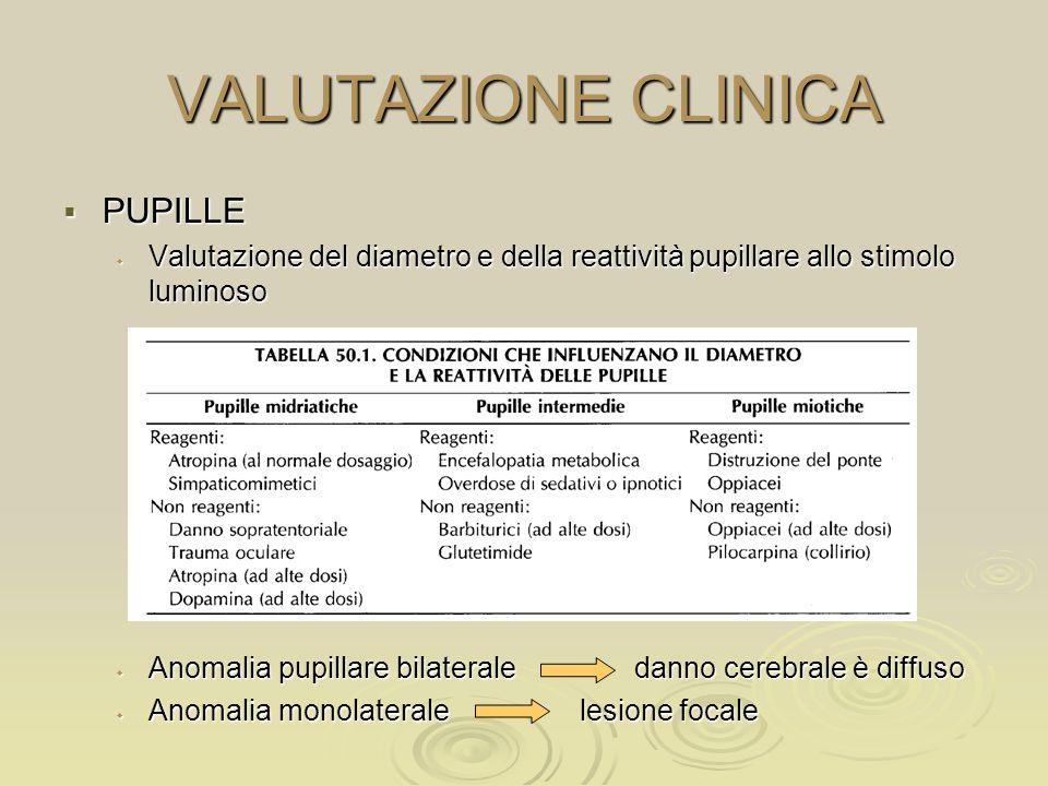 VALUTAZIONE CLINICA PUPILLE