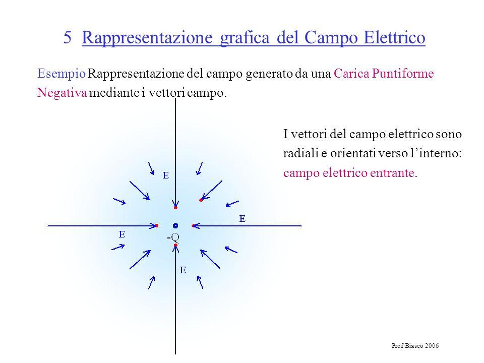 5 Rappresentazione grafica del Campo Elettrico