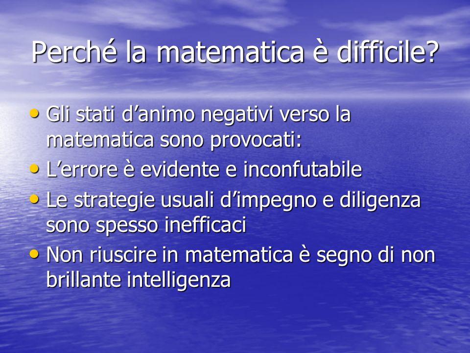 Perché la matematica è difficile